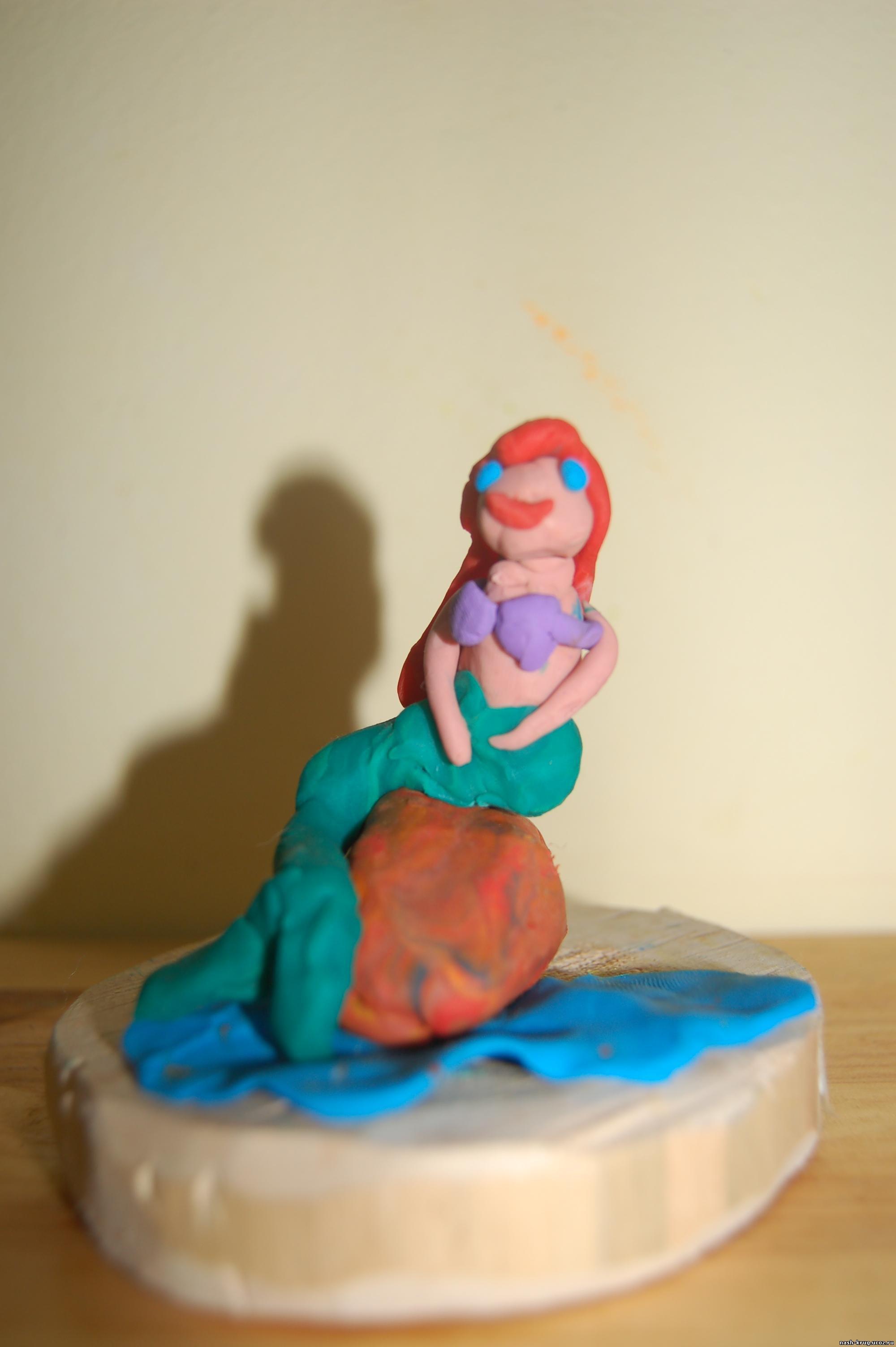 Поделка из пластилина русалка